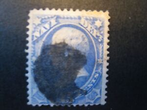 1873 US S# O42, 15c ultra, Navy hard paper Official Stamp  Used