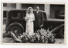 PHOTO Voiture ancienne Auto Automobile Mariage Vers 1950 Renault Citroën Peugeot