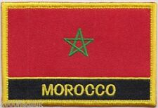Morocco Flag Embroidered Patch Badge - Sew or Iron on