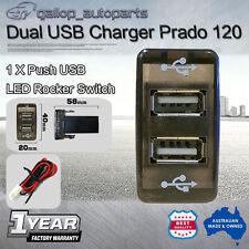 Dual Port USB Charger Switch Car Toyota Prado 120 Hilux Landcruiser 4Runner