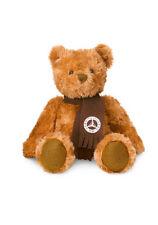 Mercedes Benz Brown Plush Teddy Bear with Polyester Fleece Scarf w/Classic Star