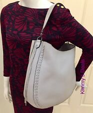 Rebecca Minkoff Unlined Convertible Whipstitch Hobo In Putty Gray MSRP $325 Nice