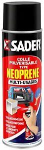 Sader Colle Pulvérisable Type Néoprène Multi-Usages Aérosol 200 ml