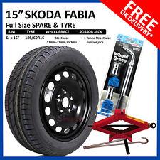 "15"" SKODA FABIA  2014-2018 FULL SIZE STEEL SPARE WHEEL & TYRE 185/60R15  + TOOLS"