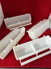 lot of 6 Heavy Duty Plastic double feeder cups.