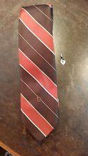 Pierre Cardin Bold Brown Orange Stripe Designer Mens Necktie Free Shipping