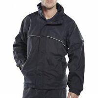 B-DRI Springfield JACKET Waterproof Breathable Hi-Vis Piping NAVY Coat XXL