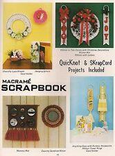 Nursery Accesories Patterns & More - Craft Book:#Pd1151 Macrame Scrapbook