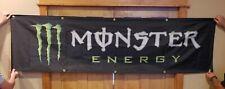 NEW Huge MONSTER Energy Drink 8ft x 2ft Black Poly Banner Dealer Promo Sign