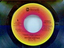 "RHYTHM HERITAGE ""THEME FROM S W A T / I WOULDN'T TREAT A DOG"" 45"