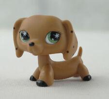 Littlest Pet Shop LPS222 Brown Monopoly Dachshund Dog Snowflake Eyes  toys