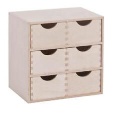 Schubladenbox Aufbewahrungsbox mit 6 Schubladen Kästen Holz Box Holzkasten Birke