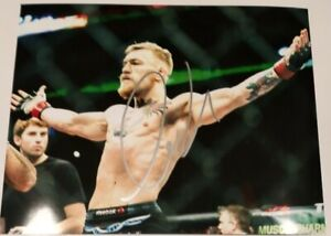 Conor McGregor Notorious UFC Champion MMA Star Signed Autographed 8x10 Photo COA