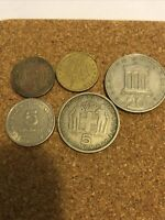 Coins - Greece Lot Of 5 Drachmas Coins - See Description For Dates #BLK5