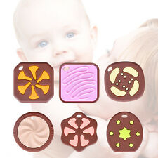 Silicone Biscuits-shaped Baby Teething Toy Food Grade Teether Grind Babys Teeth