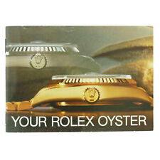 Vintage Your Rolex Oyster Booklet English Version From 1985