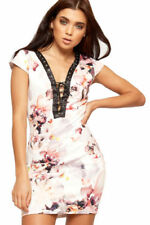 Lace Up Short Sleeve Regular Size Dresses for Women