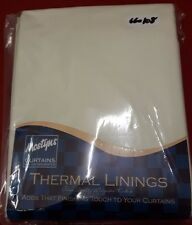 Mostyns Ready Made Tape Top Thermal Curtain Linings 66 x 108