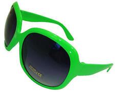 Ladies Womens Green Large Frame Vintage Retro Sunglasses Uv400 Aviator
