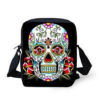 Skull Head Women Shoulder School Bag Handbag Cross Body Purse Satchel Messenger