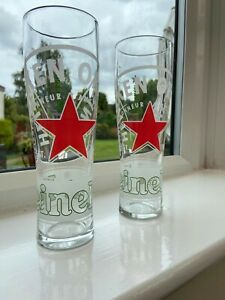 Set Of 2 Heineken Pint Glasses (20oz) Brand New!! Home Bar Man Cave!!