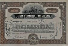 Bush Terminal Company stock certificate New York 1938