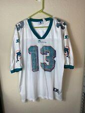 Mens 52 Starter NFL Miami Dolphins #13 Dan Marino Printed Football Jersey VTG