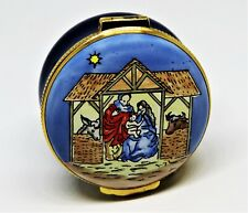 Crummles English Enamel Box - Harrods Exclusive Christmas 1990 - Nativity Scene