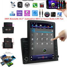 "1DIN Rotatable 10.1""Android9.1 HD Touch Screen 1GB+16GB Car Stereo Radio GPS Nav"