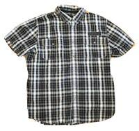 Harley Davidson Mens Short Sleeve Press Button Up Shirt  Black Check Size 3XL