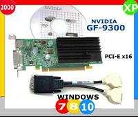 DUAL MONITOR WINDOWS 10 PCI-E x16 Video Card. SFF 9300 NVIDIA DVI_x2 Half Height