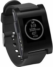 Pebble smartwatch-noir
