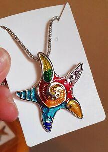 Starfish Pendant Necklace Sea Creature