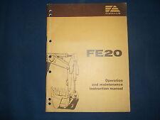 FIAT ALLIS FE20 EXCAVATOR OPERATION & MAINTENANCE BOOK MANUAL