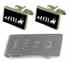 Evolution Ape To Man Polo Cufflinks & James Bond Money Clip