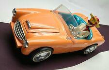Vintage Barbie Convertible 1962 Austin Healey Electric Clock Radio, So Precious!