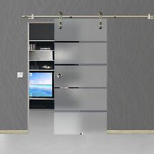 Soft Stop Glasschiebetür Glastür Edelstahl 1025x2050mm BP1-1025RA
