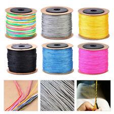 100M Makramee Geflochten Schnur Kordel Faden Beading String Braided Cord Thread