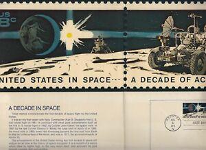1971 Space Achievement Sc 1435b  3 folios: Houston, Huntsville, Kennedy cancels