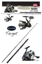 Aquantic target-boat s uptide 50lb 2,40 cm + Penn ® Sargus ® Saltwater sg 5000