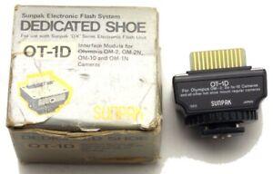 Vintage Sunpak Dedicated Shoe OT-1D for Olympus OM Cameras Japan Barely Used