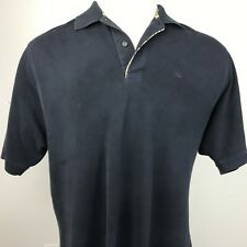 Burberry London Men's XL Navy Blue Polo Rugby S/S shirt