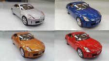 "Set of 4: 5"" Kinsmart Nissan 350Z 1:34 diecast model toy car fairlady KT5061D"