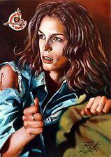 JAMIE LEE CURTIS / LARGE HORROR SUPER HEAVYWEIGHT RICK MELTON FINE ART PRINT