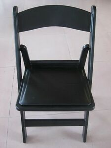 New & Used White, Black Resin & Natural Folding Chairs