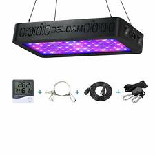 OSLOAM Grow Light 600W LED Full Spectrum Double Switch indoor + Thermometer