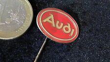 Audi Anstecknadel Badge Logo Auge rund Schriftzug gross 21 mm hellrot gold