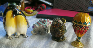 5 different Trinket boxes New