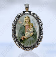 Our Mother Virgin Mary and Baby Jesus Catholic Medal Religious Jewelry Pendant
