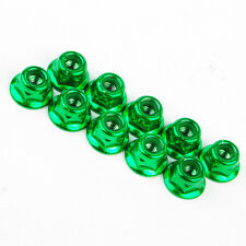 10X 1/10 RC Anti-Loose Wheel Rim Lock Nuts For EP Nitro Racing Drift Car Green